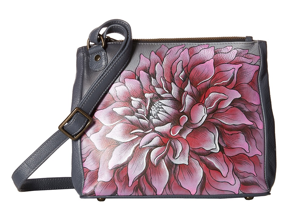 Anuschka Handbags - 525 (Dreamy Dahlias Pink) Cross Body Handbags