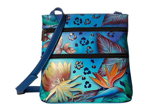 Anuschka Handbags 447 Compact Crossbody Travel Organizer - Tropical Dream