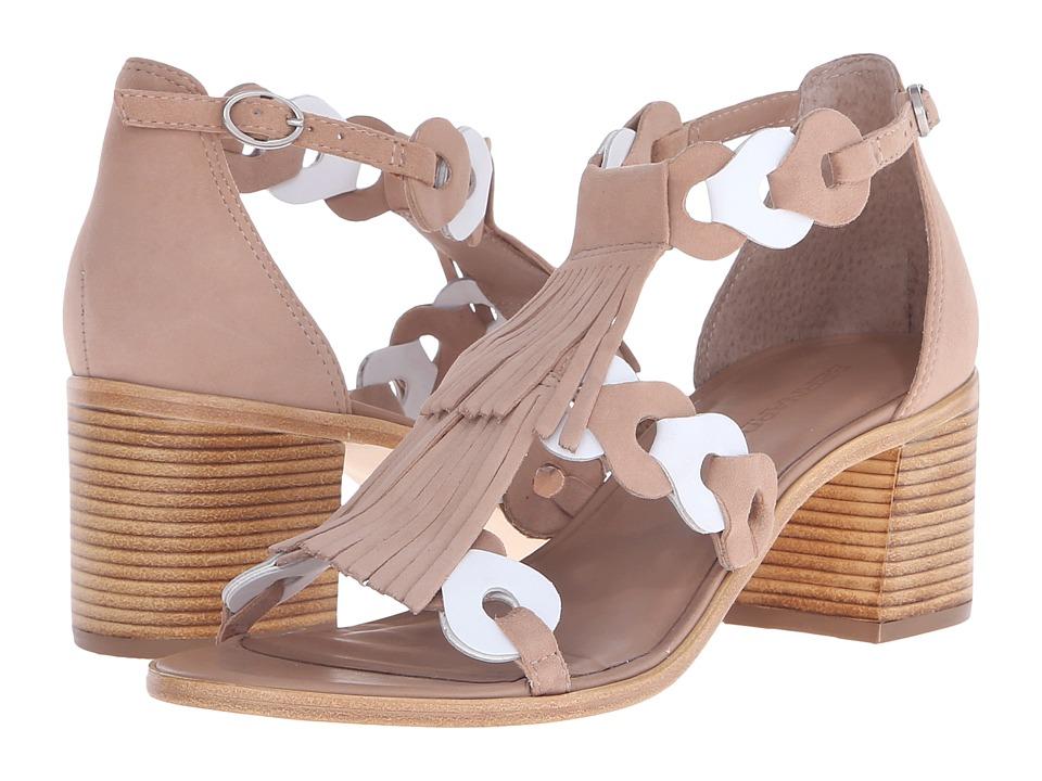 Bernardo Brogan Sand/White Suede High Heels