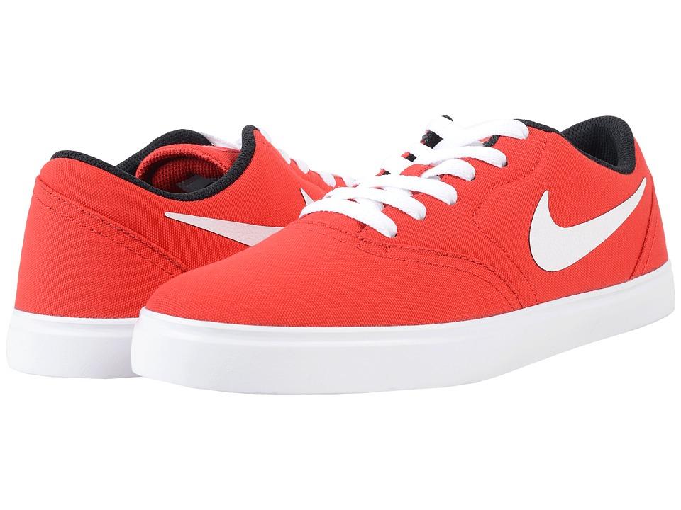 Nike SB Check Canvas University Red/Black/White Mens Skate Shoes