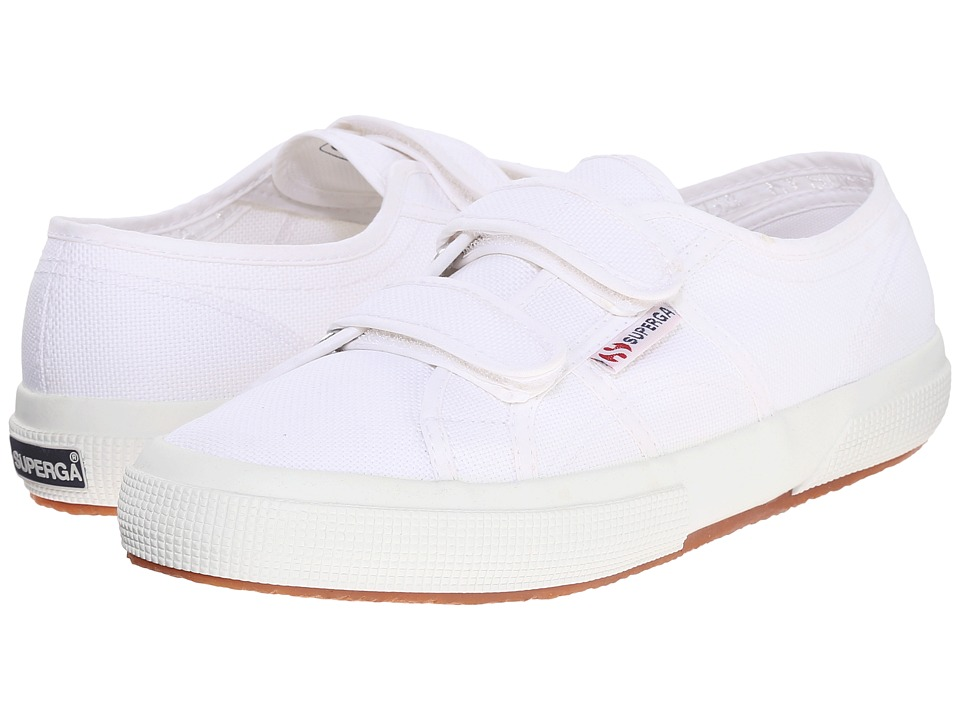 Superga - 2750 Velu (White) Hook and Loop Shoes