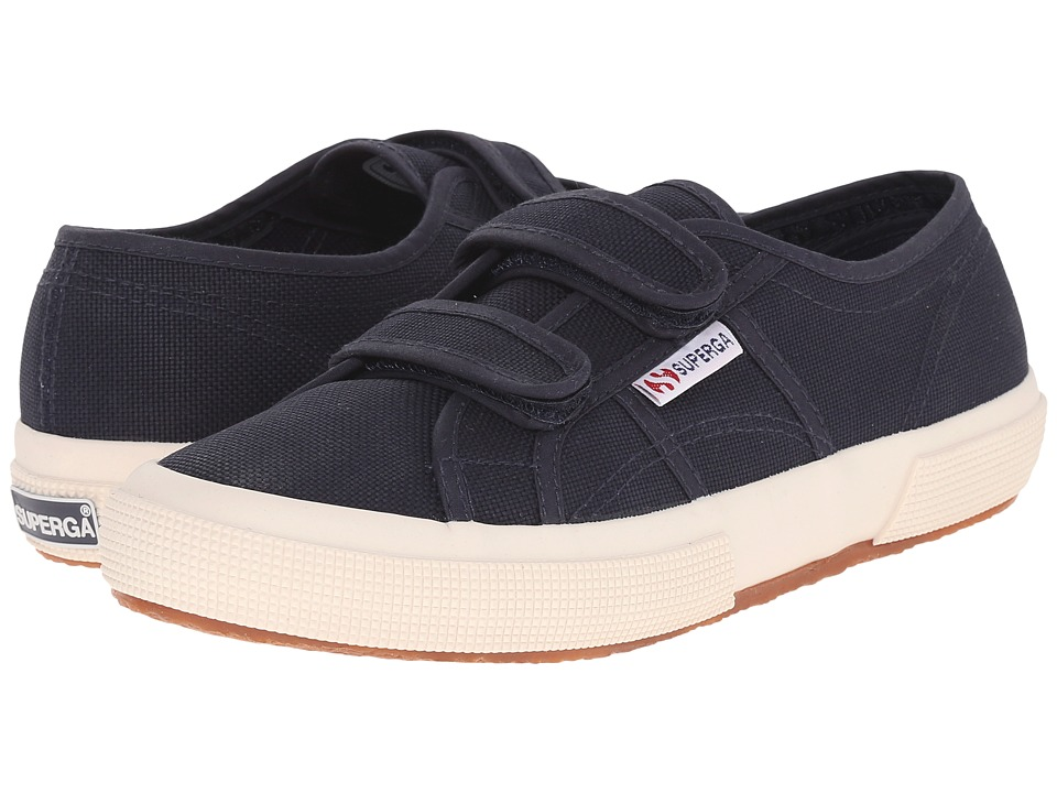 Superga - 2750 Velu (Navy) Hook and Loop Shoes