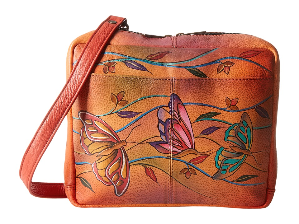 Anuschka Handbags - 560 (Angel Wings Tangerine) Handbags