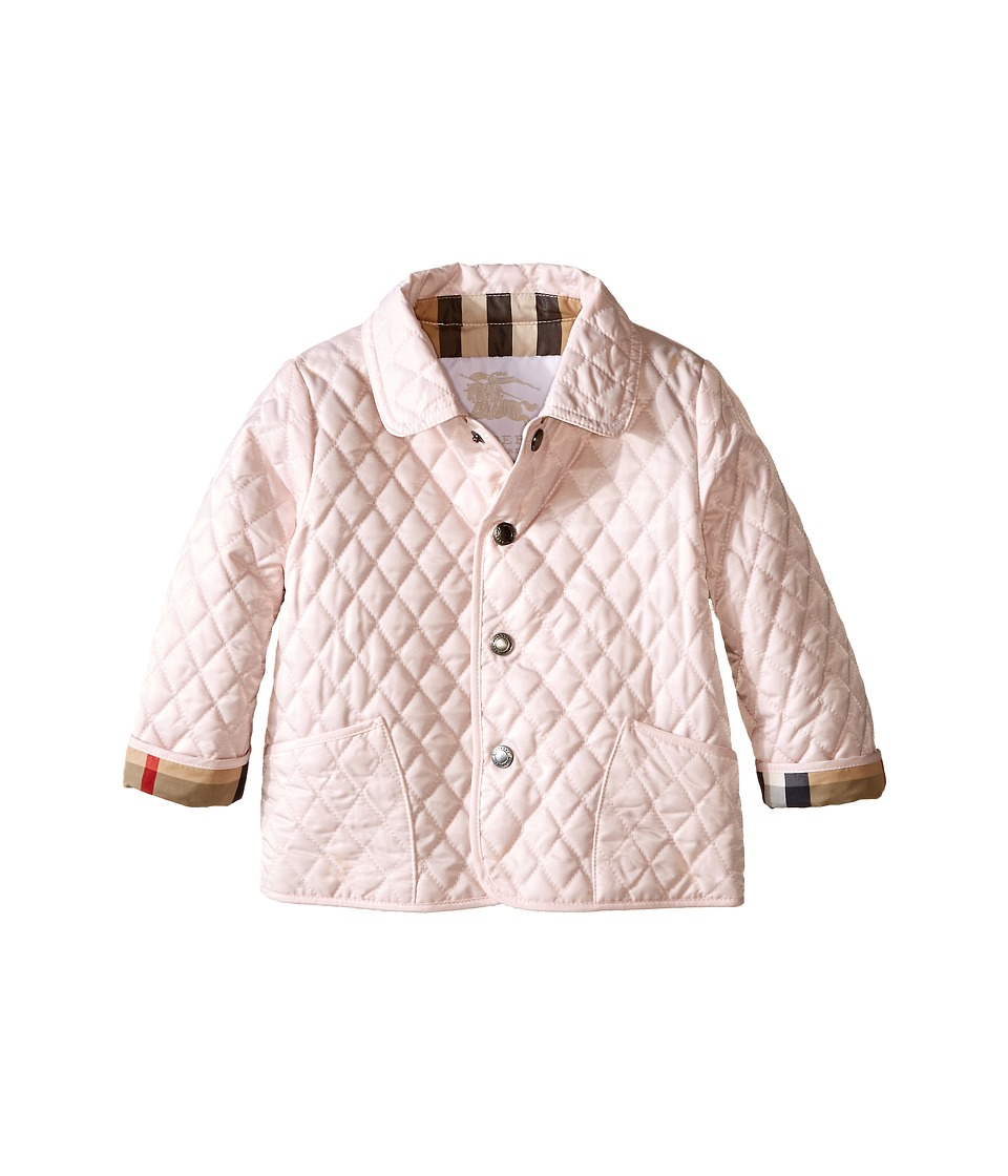 Burberry Kids Colin Quilted Jacket Infant/Toddler Ice Pink Girls Coat