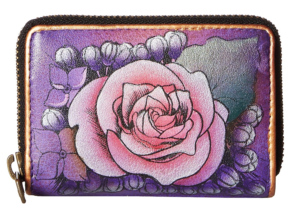 Image of Anuschka Credit and Business Card Holder Lush Lilac - Anuschka Ladies Small Wallets