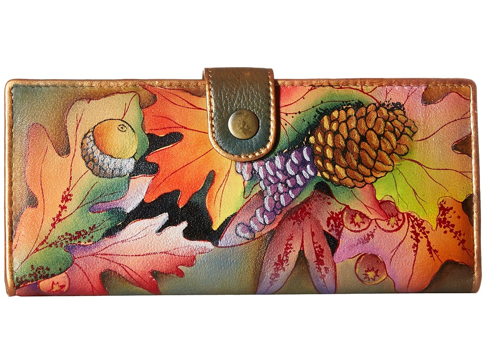 Anuschka Handbags 1071 Fall Fiesta Checkbook Wallet