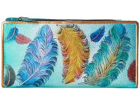 Anuschka Handbags 1088 Clutch Wallet - Floating Feathers