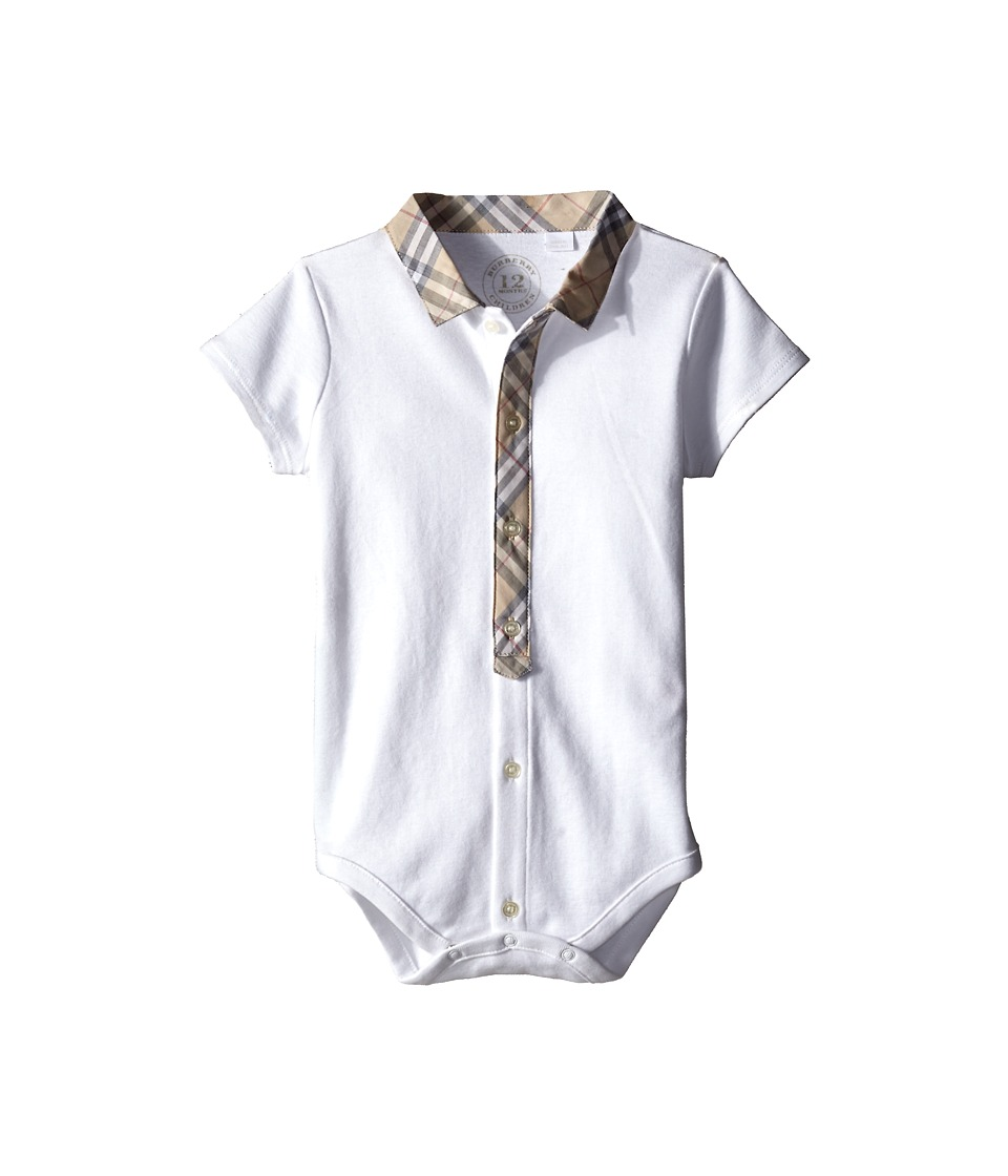 Burberry Kids - Tannar Bodysuit (Infant) (White) Kid's Ac...
