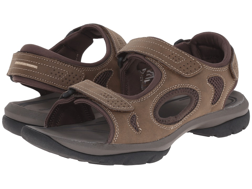 Dockers - Devon (Brown/Brown/Khaki Distressed/Mesh) Men's Sandals