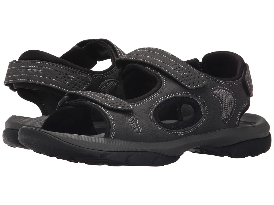 Dockers Devon 3 Strap Sandal (Black/Grey/Grey Distressed/Mesh) Men