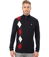 U.S. POLO ASSN. - 1/4 Zip Argyle Sweater