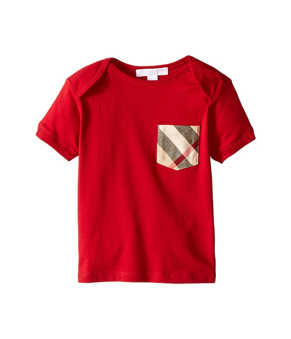 Burberry Kids Callum Tee Infant/Toddler Military Red Kids T Shirt