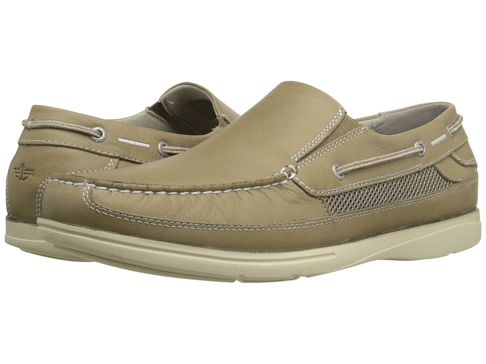 Dockers Chalmers Light Taupe Soft Waxy Tumbled Mens Slip on Shoes