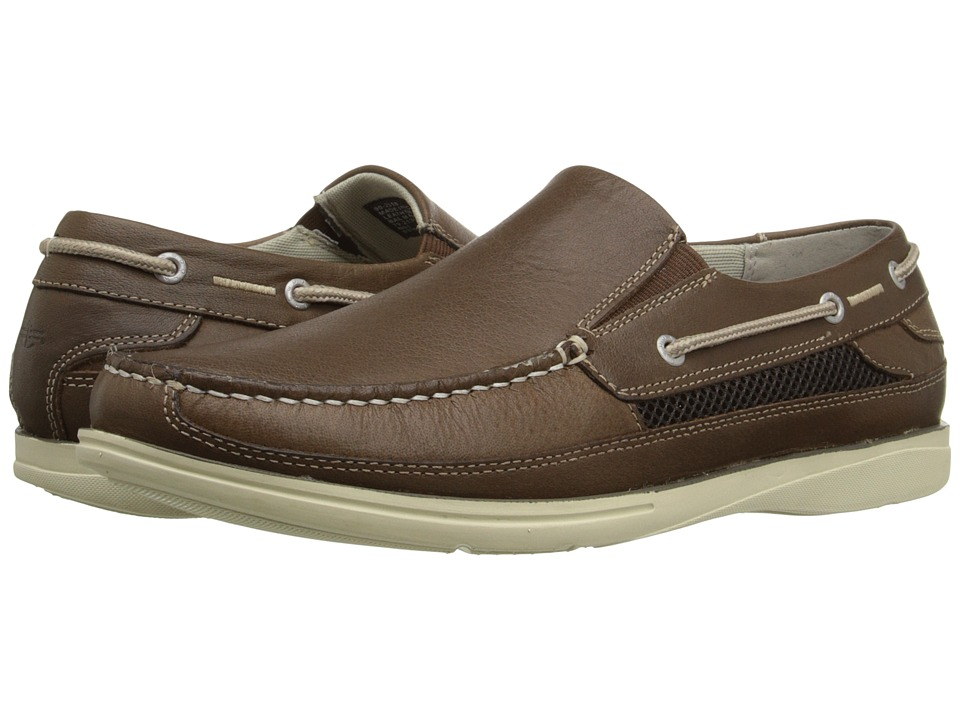Dockers Chalmers Dark Tan Soft Waxy Tumbled Mens Slip on Shoes
