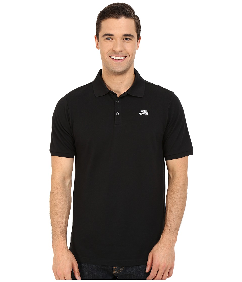 Nike SB - SB Dri-FITtm Pique Polo (Black/White) Mens Clothing