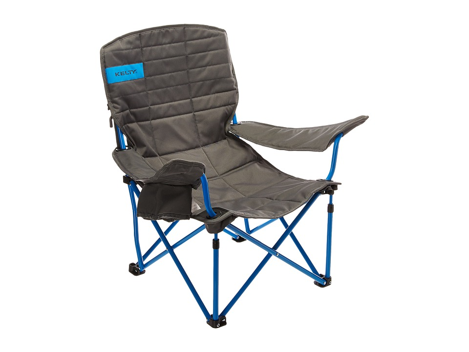 Kelty - LowDown Chair (Smoke/Paradise Blue) Outdoor Sports Equipment