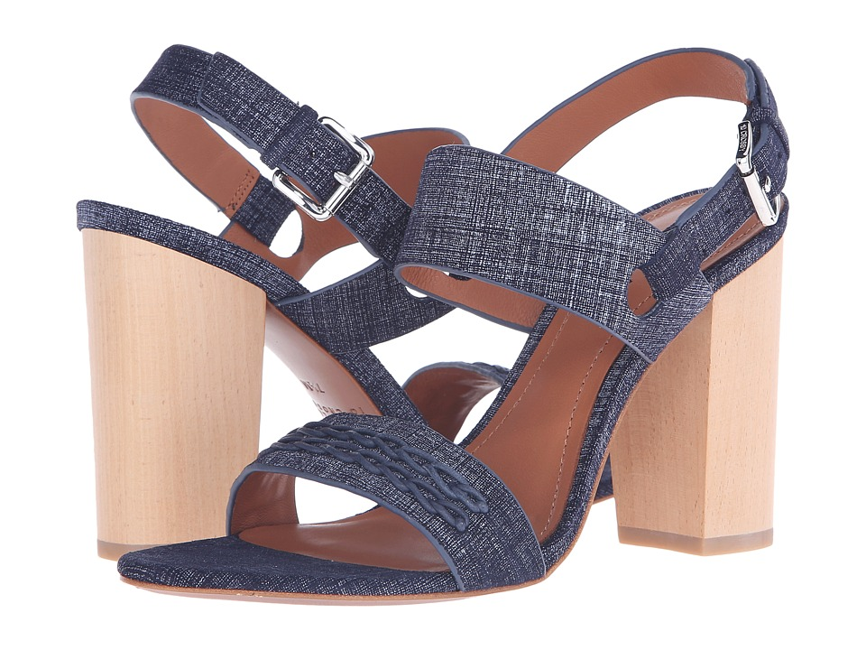 10 Crosby Derek Lam Mandy Indigo Suede Womens Sandals