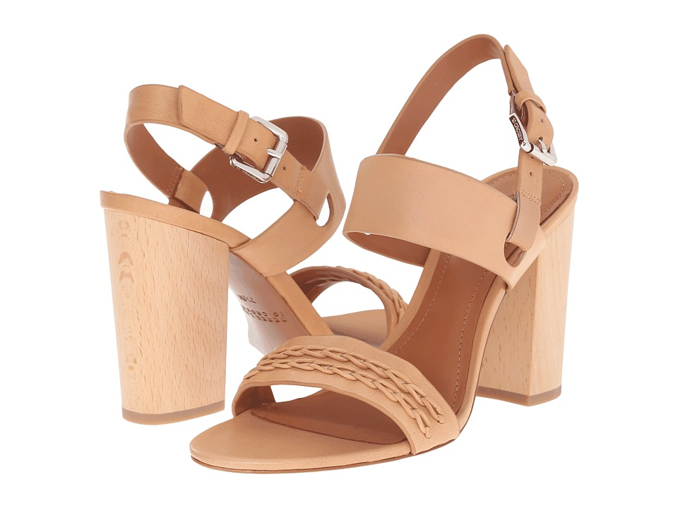 10 Crosby Derek Lam Mandy Natural Vacchetta Womens Sandals