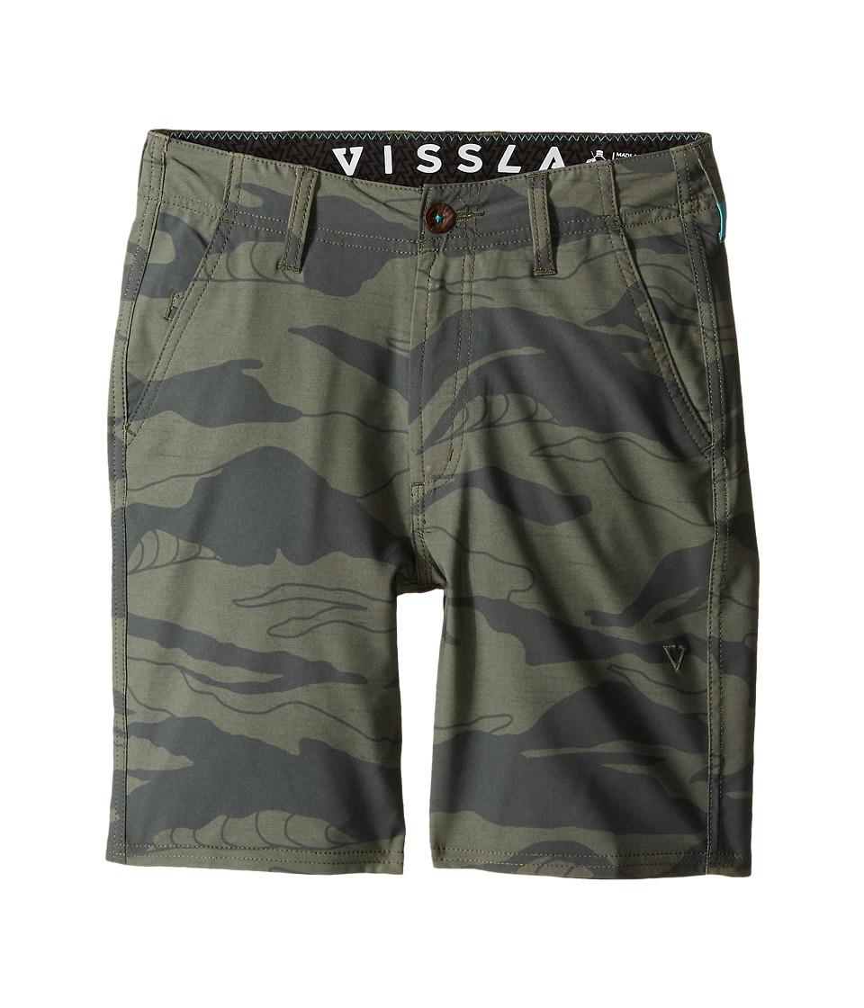 VISSLA Kids Setz Camo 4 Way Stretch Walkshorts 17 Big Kids Camo Boys Shorts