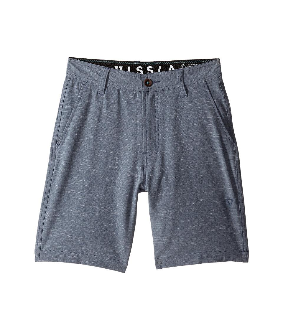 VISSLA Kids Fin Rope 4 Way Stretch Hybrid Walkshorts 17.5 Big Kids Dark Slate Boys Shorts