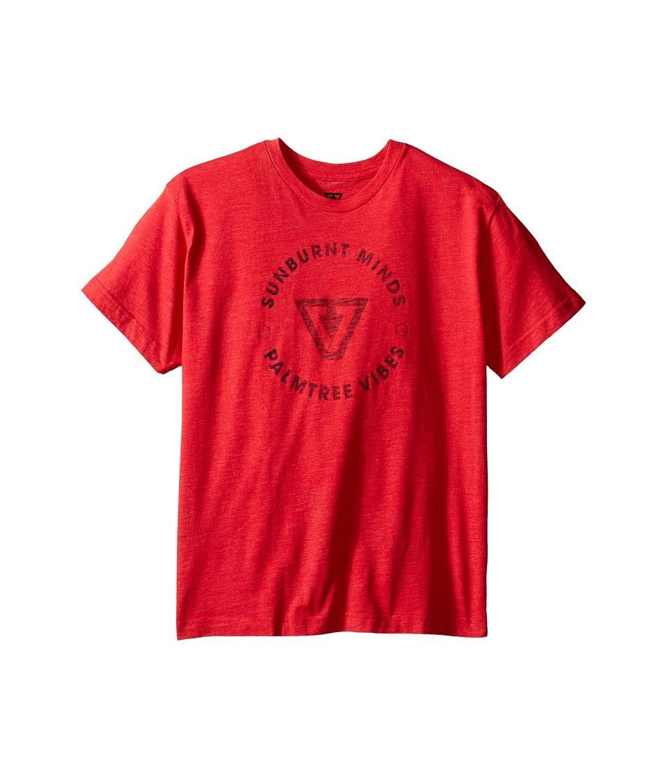 VISSLA Kids Full Circle T Shirt Big Kids Red Heather Boys T Shirt