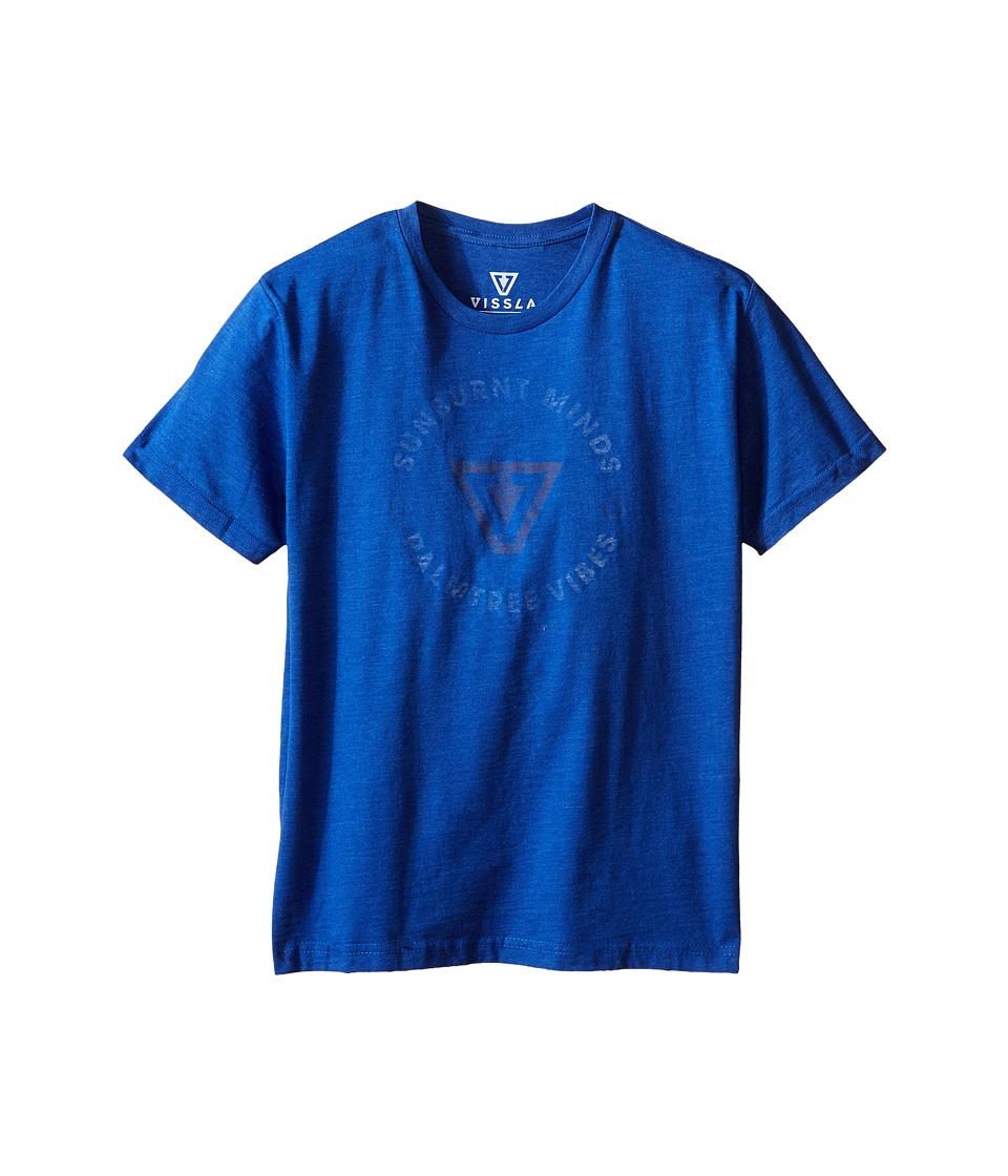 VISSLA Kids Full Circle T Shirt Big Kids Royal Wash Heather Boys T Shirt