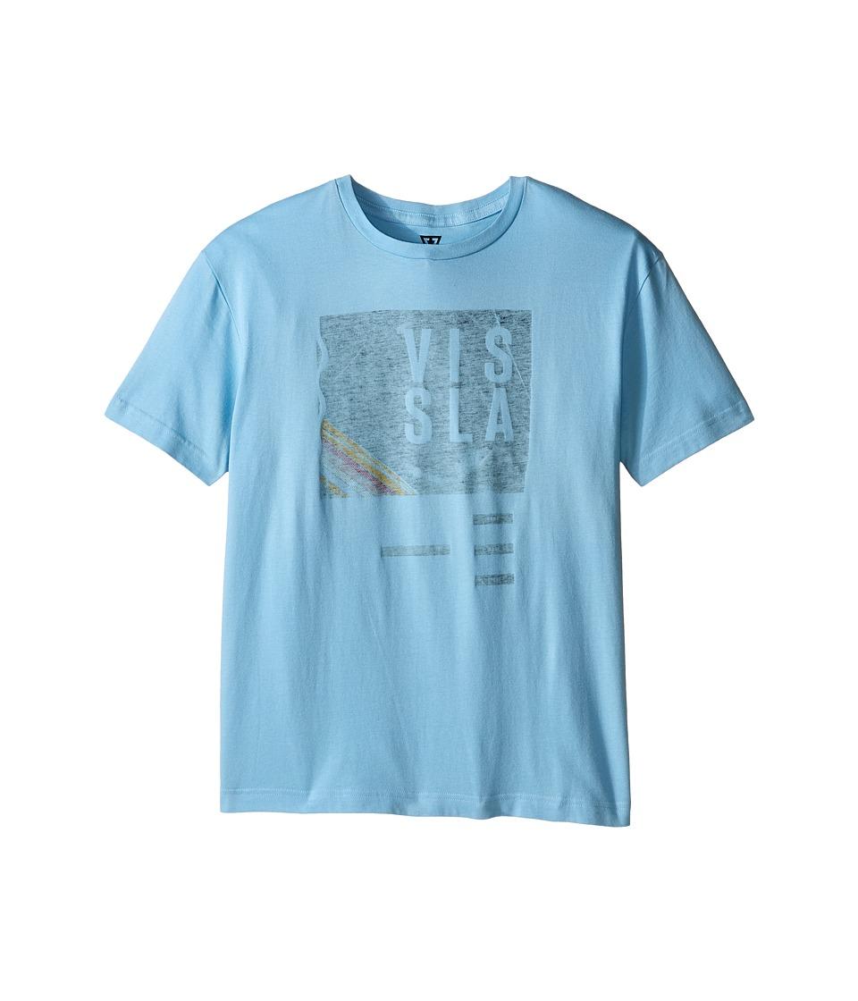 VISSLA Kids Welcome T Shirt Big Kids Coastal Blue Boys T Shirt