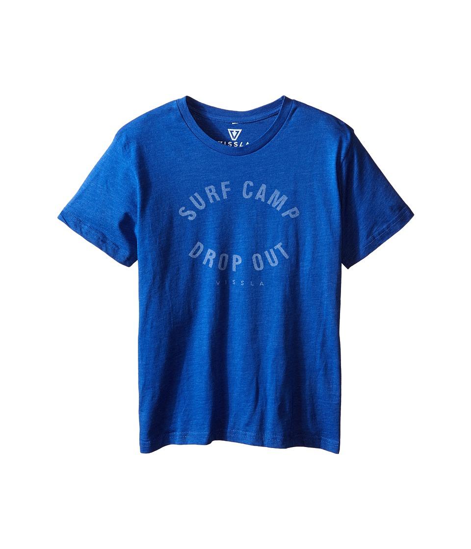 VISSLA Kids Quotes Surf T Shirt Big Kids Royal Wash Heather Boys T Shirt