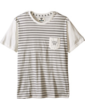 VISSLA Kids - Stacked Lines Pocket Tee (Big Kids)