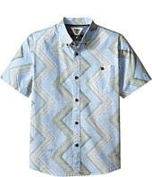 VISSLA Kids - Raised By Waves Short Sleeve Woven Shirt (Big Kids)