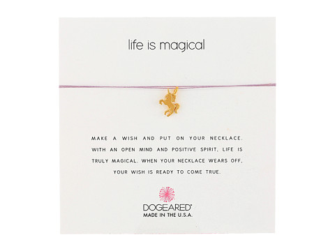 Dogeared Life Is Magical Unicorn Make A Wish Necklace - Gold Dipped/Lavender