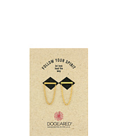 Dogeared - Medium Bar with Chain Loop Earrings