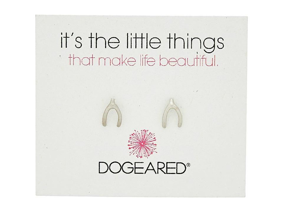 Dogeared Its the Little Things Wishbone Studs Earrings Sterling Silver Earring