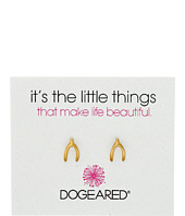 Dogeared - It's the Little Things Wishbone Studs Earrings