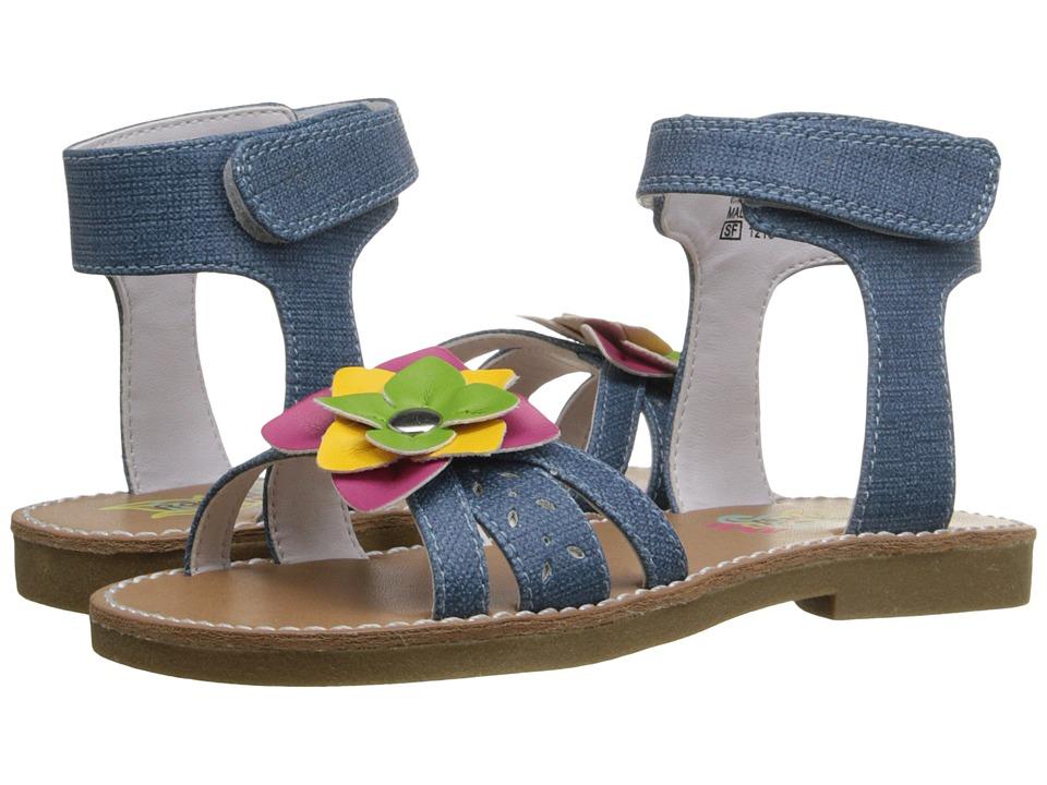 Rachel Kids Tulip Toddler/Little Kid Denim/Multi Girls Shoes