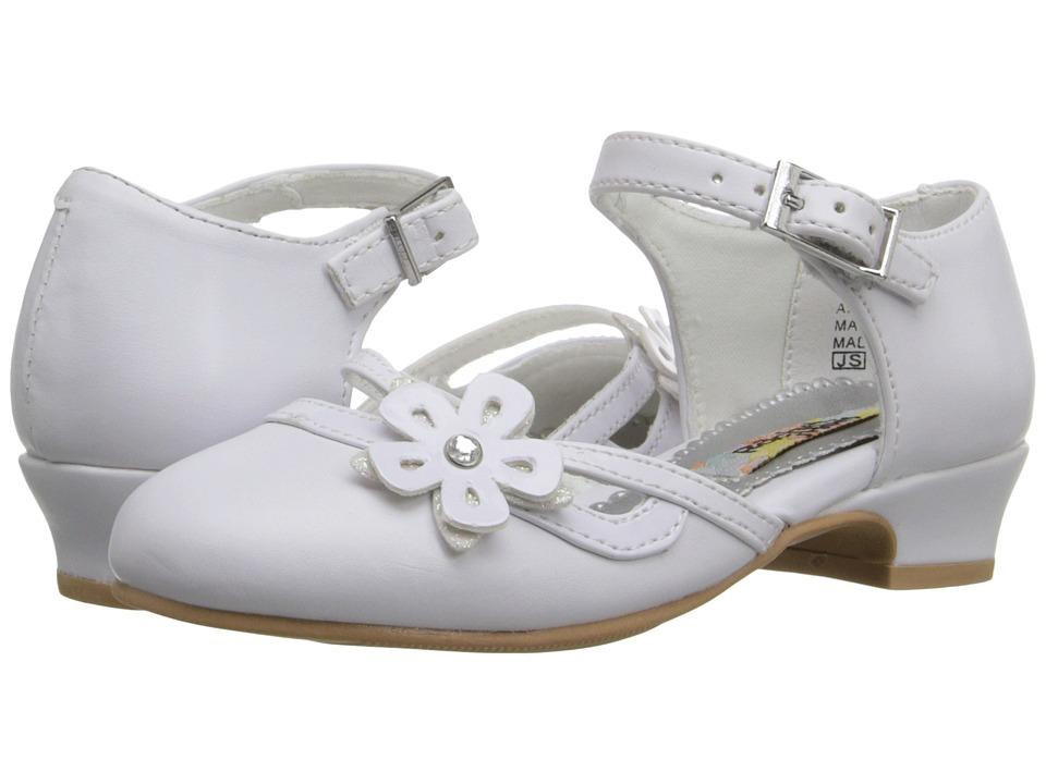 Rachel Kids Lil Jenni Toddler/Little Kid White Smooth Girls Shoes