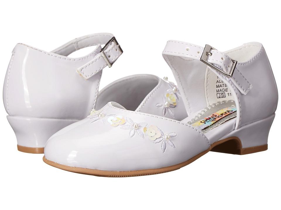 Rachel Kids Lil Isla Toddler/Little Kid White Patent Girls Shoes