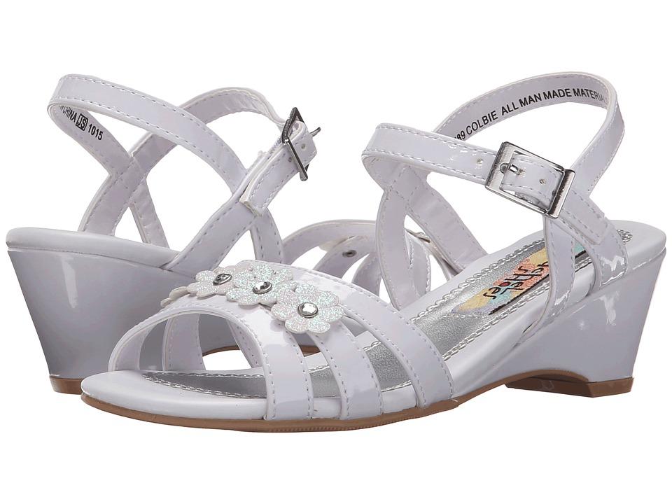 Rachel Kids Colbie Little Kid/Big Kid White Patent Girls Shoes