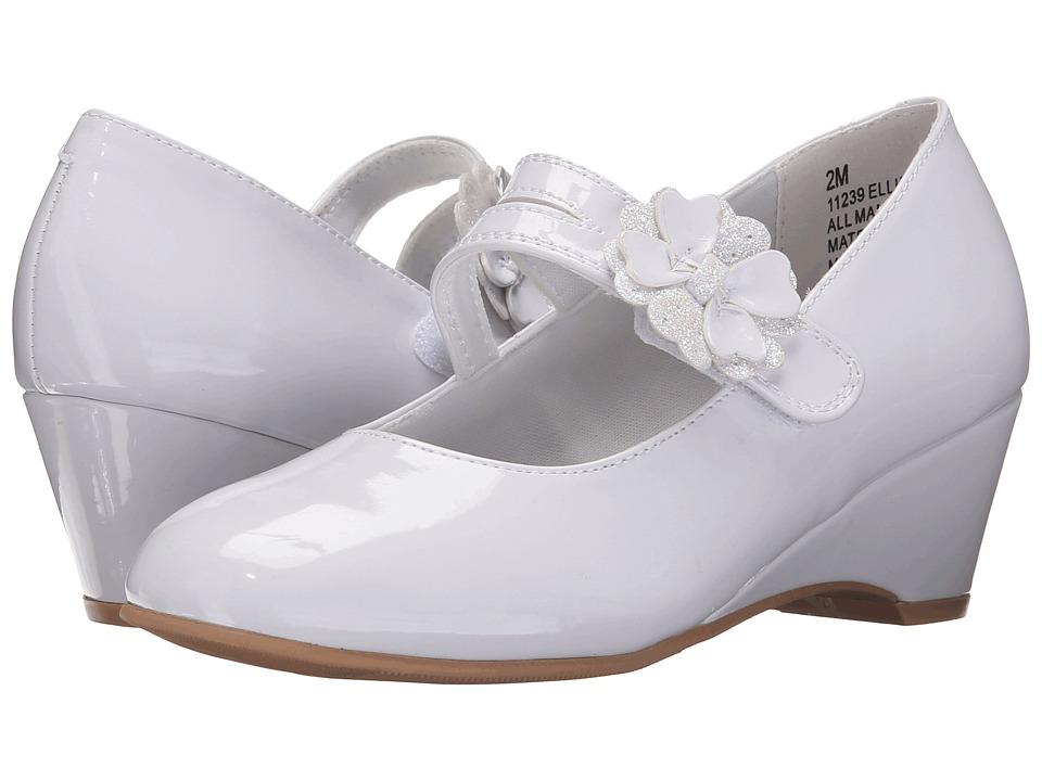 Rachel Kids Ellie Little Kid/Big Kid White Patent Girls Shoes