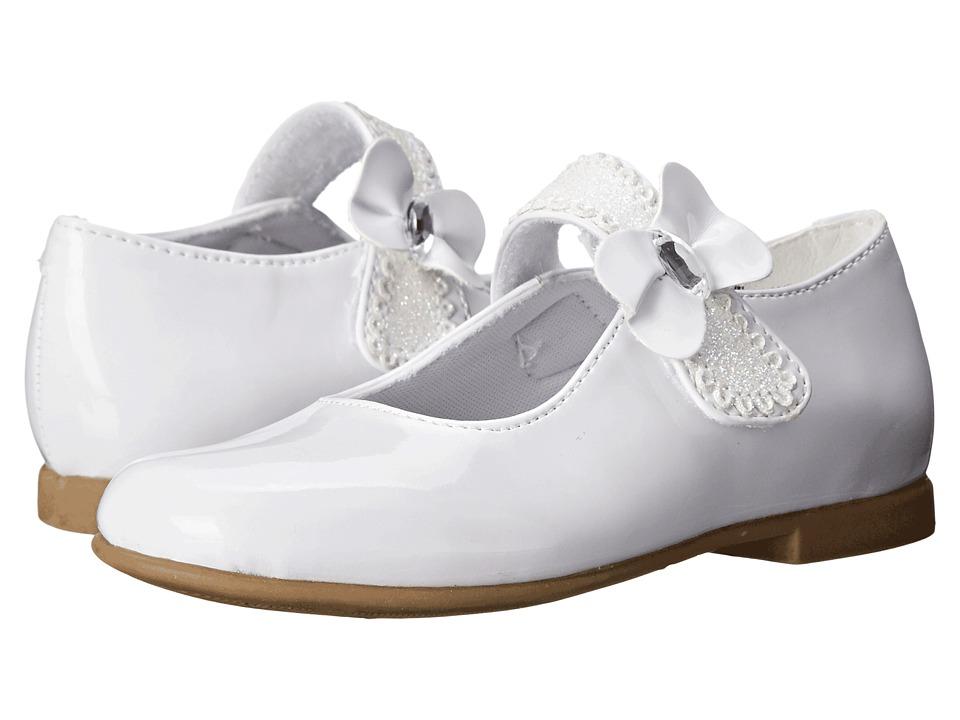Rachel Kids Laurel 2 Toddler/Little Kid White Patent Girls Shoes