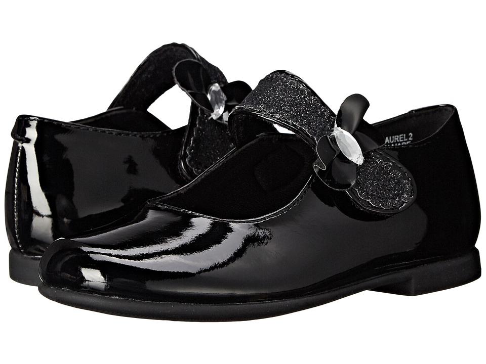 Rachel Kids Laurel 2 Toddler/Little Kid Black Patent Girls Shoes