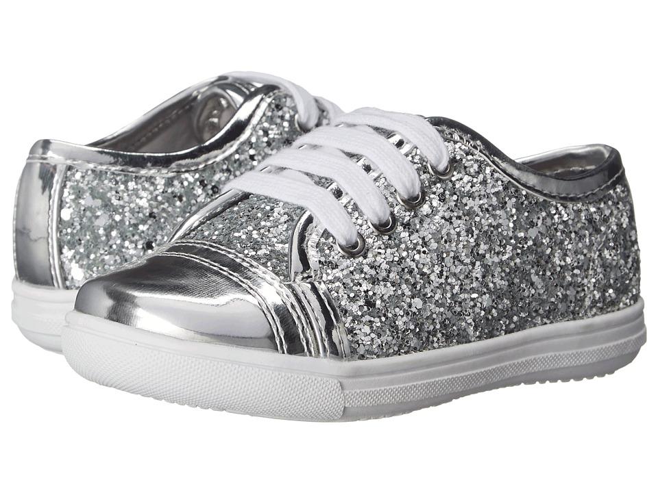 Rachel Kids Lucie Toddler/Little Kid Silver Glitter Girls Shoes
