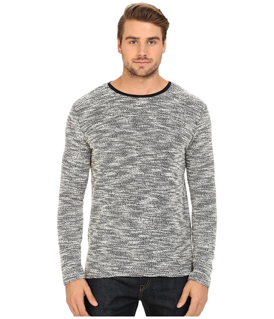 7 Diamonds Burgos Long Sleeve Shirt Charcoal Mens Sweater