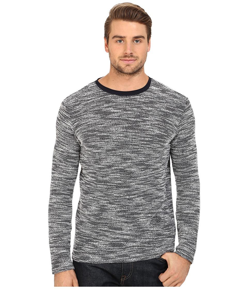 7 Diamonds Burgos Long Sleeve Shirt Navy Mens Sweater
