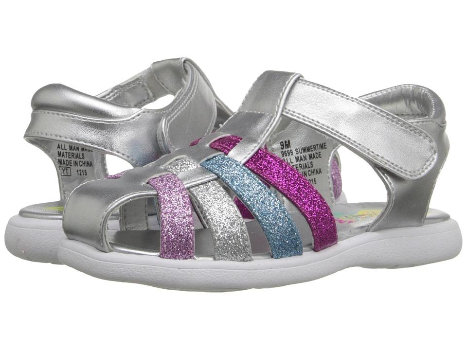 Rachel Kids Summertime Toddler Silver/Multi Glitter Girls Shoes