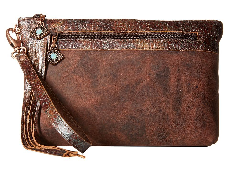 Leatherock HJ05 Black Walnut Clutch Handbags