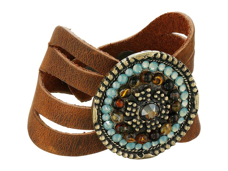 Leatherock B715 Tobacco Bracelet