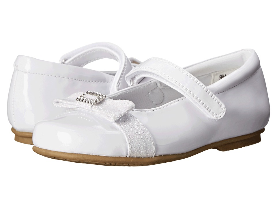 Rachel Kids Tina Toddler/Little Kid White Patent Girls Shoes