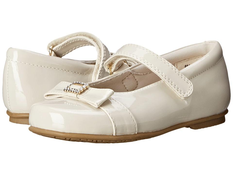Rachel Kids Tina Toddler/Little Kid Bone Patent Girls Shoes