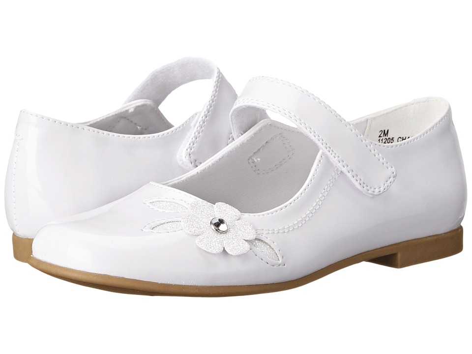 Rachel Kids Charlene Little Kid/Big Kid White Patent Girls Shoes